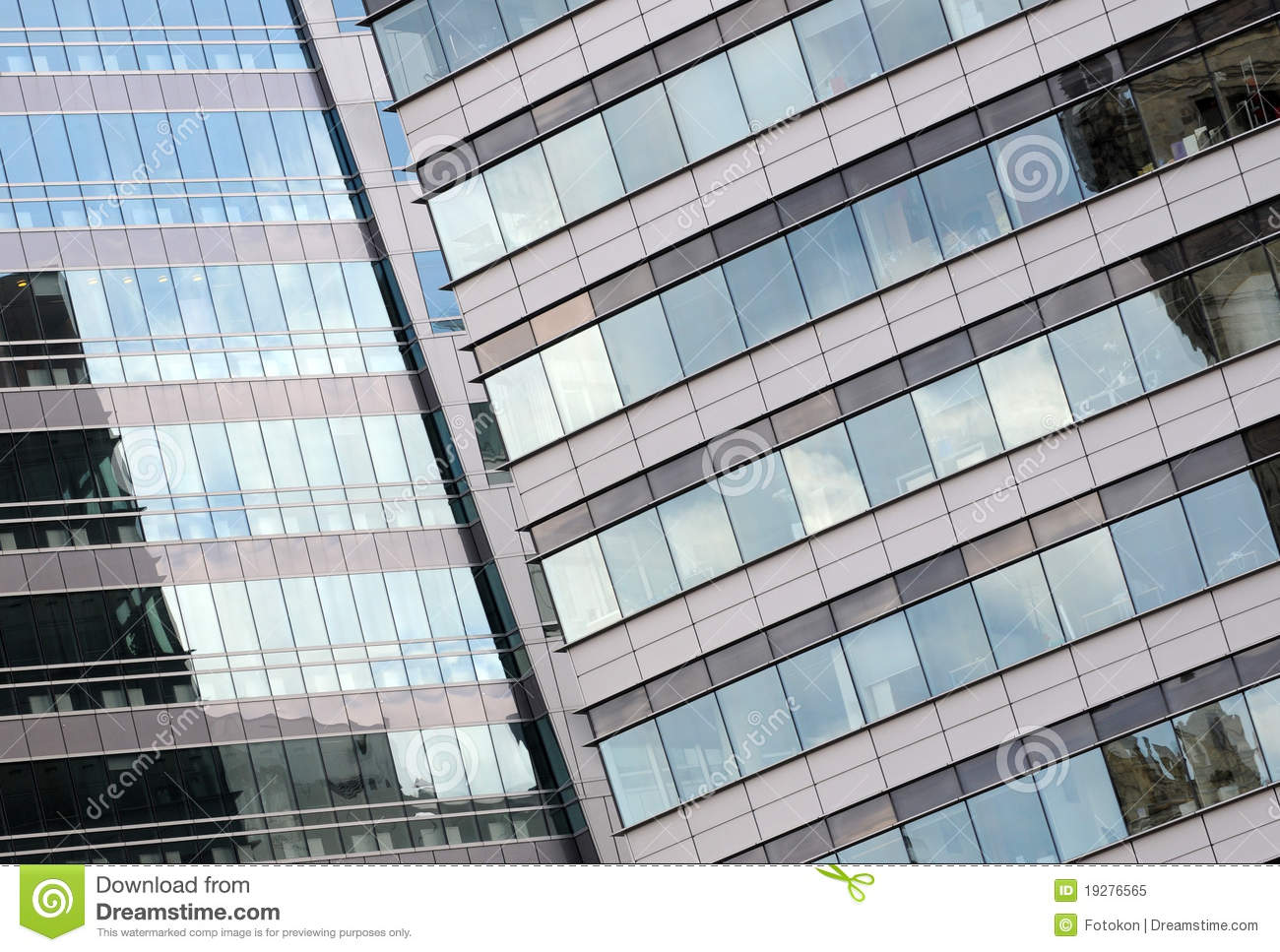 Modern Architecture Details Warsaw Poland Royalty Free