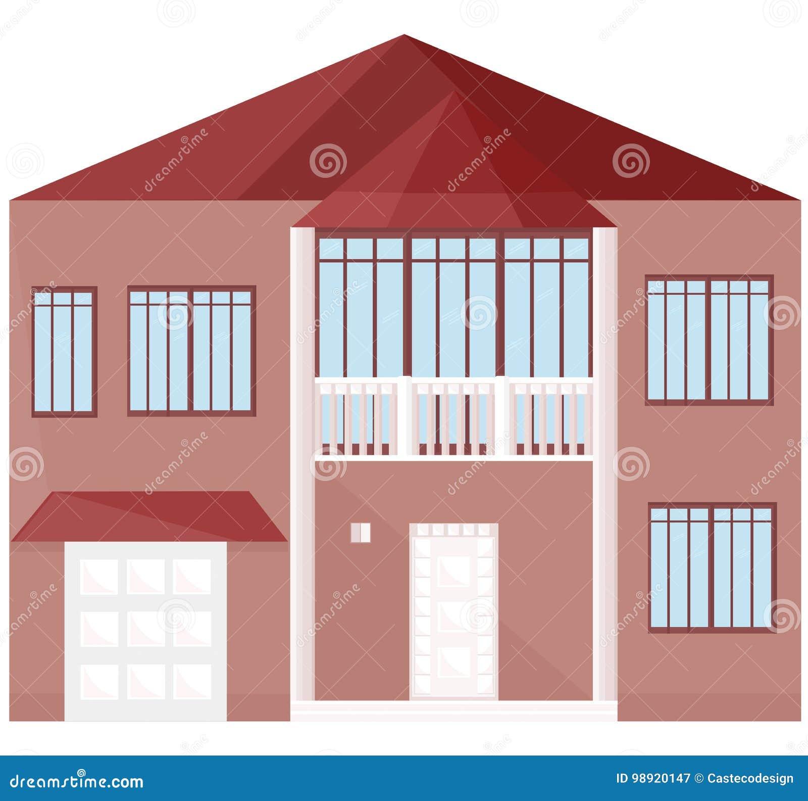 Modern Architecture Facade Building Vector Illustrations Stock ...