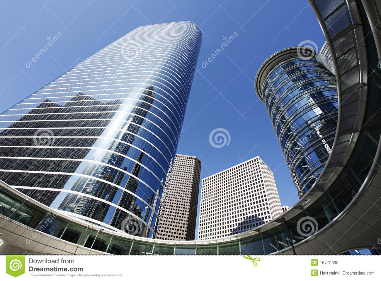 modern architecture in houston downtown stock photo - image: 16772030