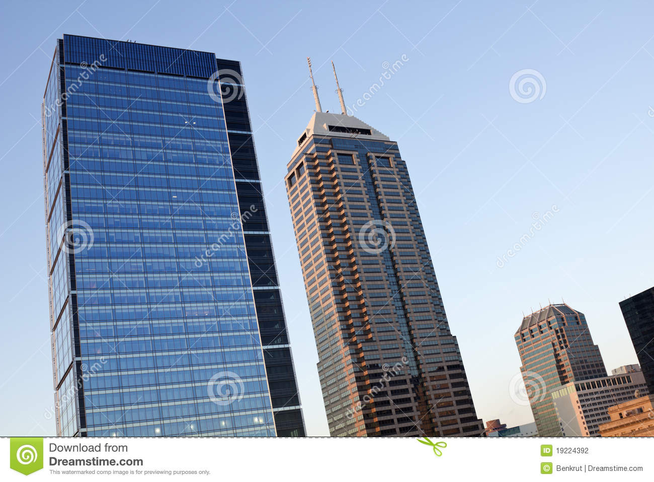 Modern Architecture Of Indianapolis Stock Photography