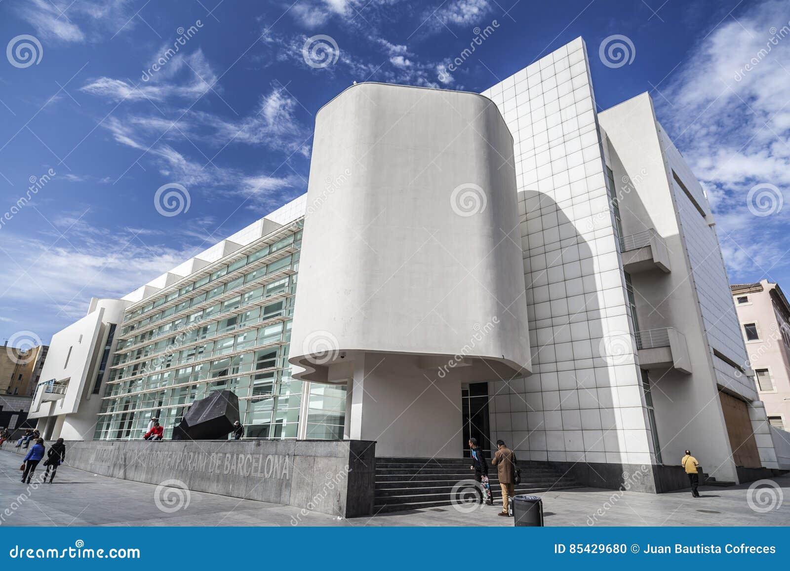 Modern Architecture Museum modern architecture, museum, macba,barcelona. editorial image