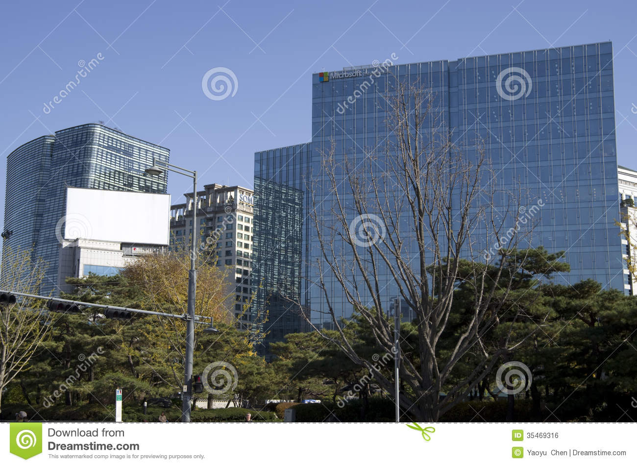 Modern architecture office buildings seoul editorial photo for Beautiful modern buildings
