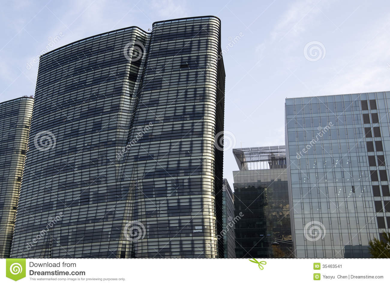 Modern Architecture Office Buildings Stock Image Image Of