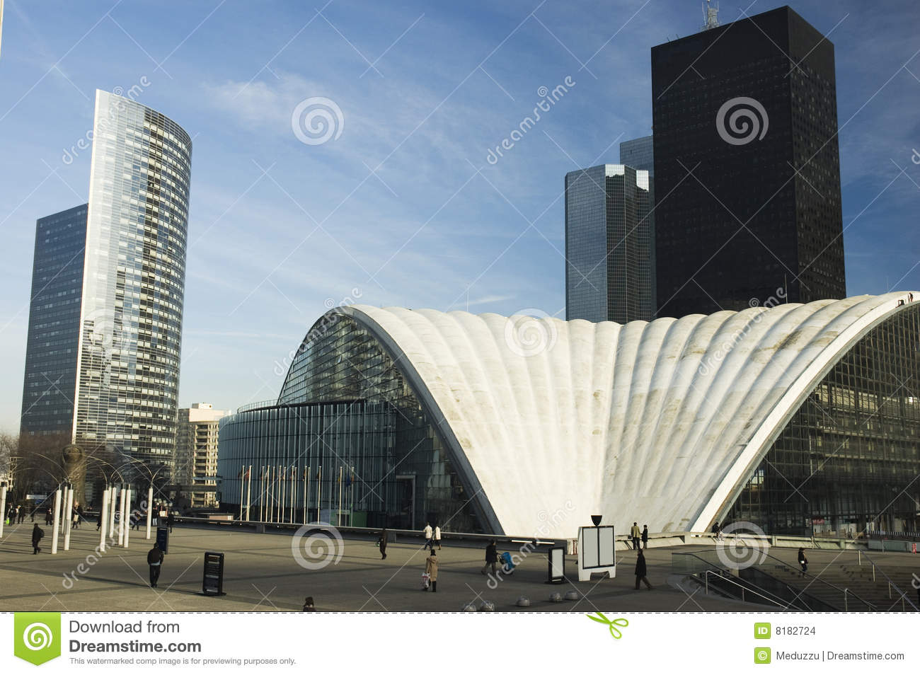 Modern architecture in paris stock images image 8182724 for Architecture moderne