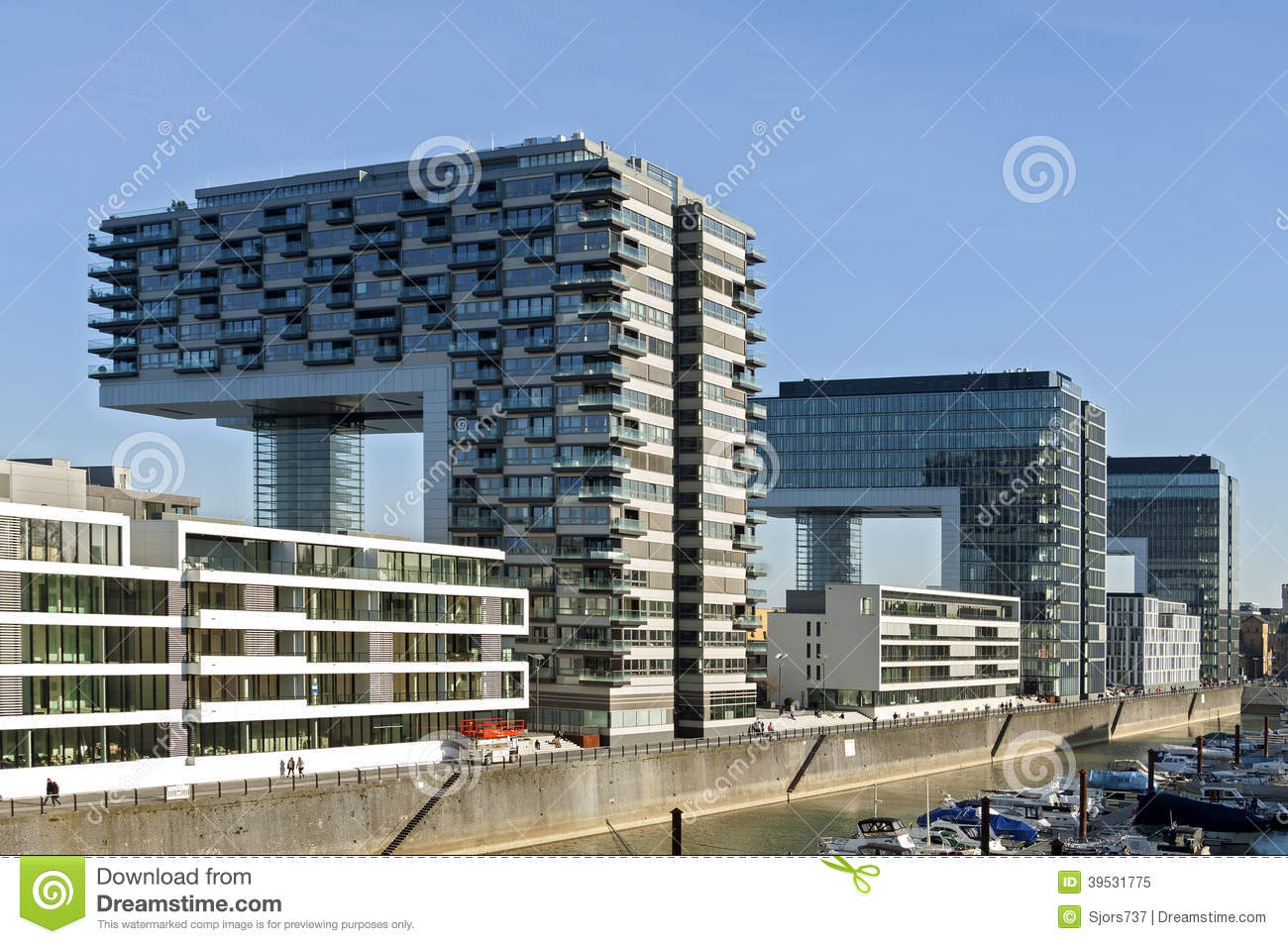 Modern Architecture Germany modern architecture, rhine skyline, cologne editorial image
