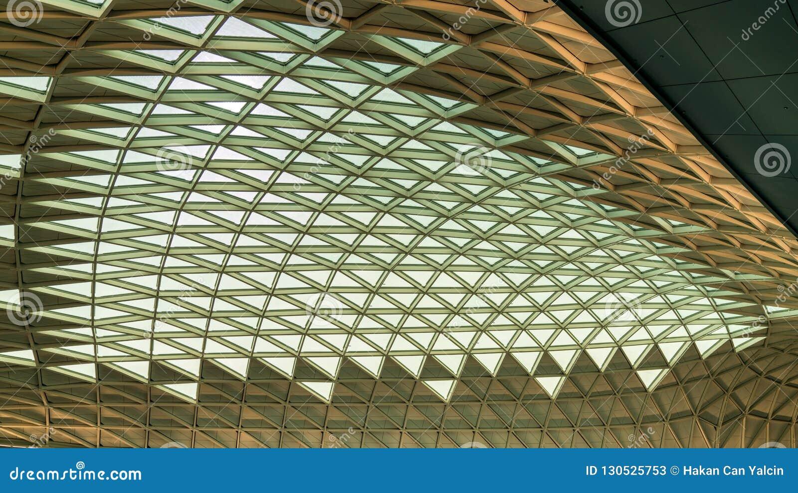Modern Architecture Roof Of Incheon International Airport Interior ...