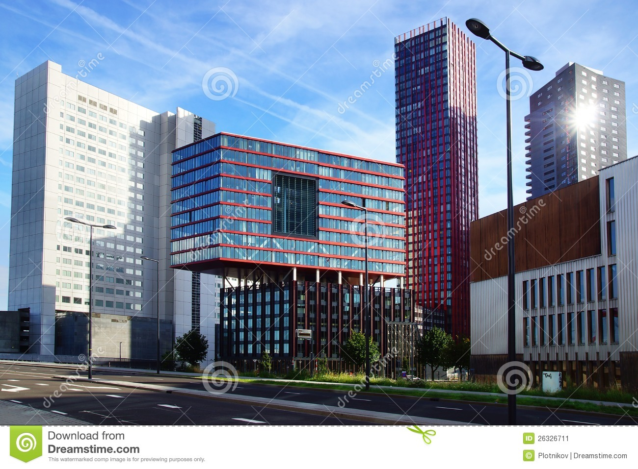 Modern architecture in the rotterdam netherlands stock for Architecture rotterdam