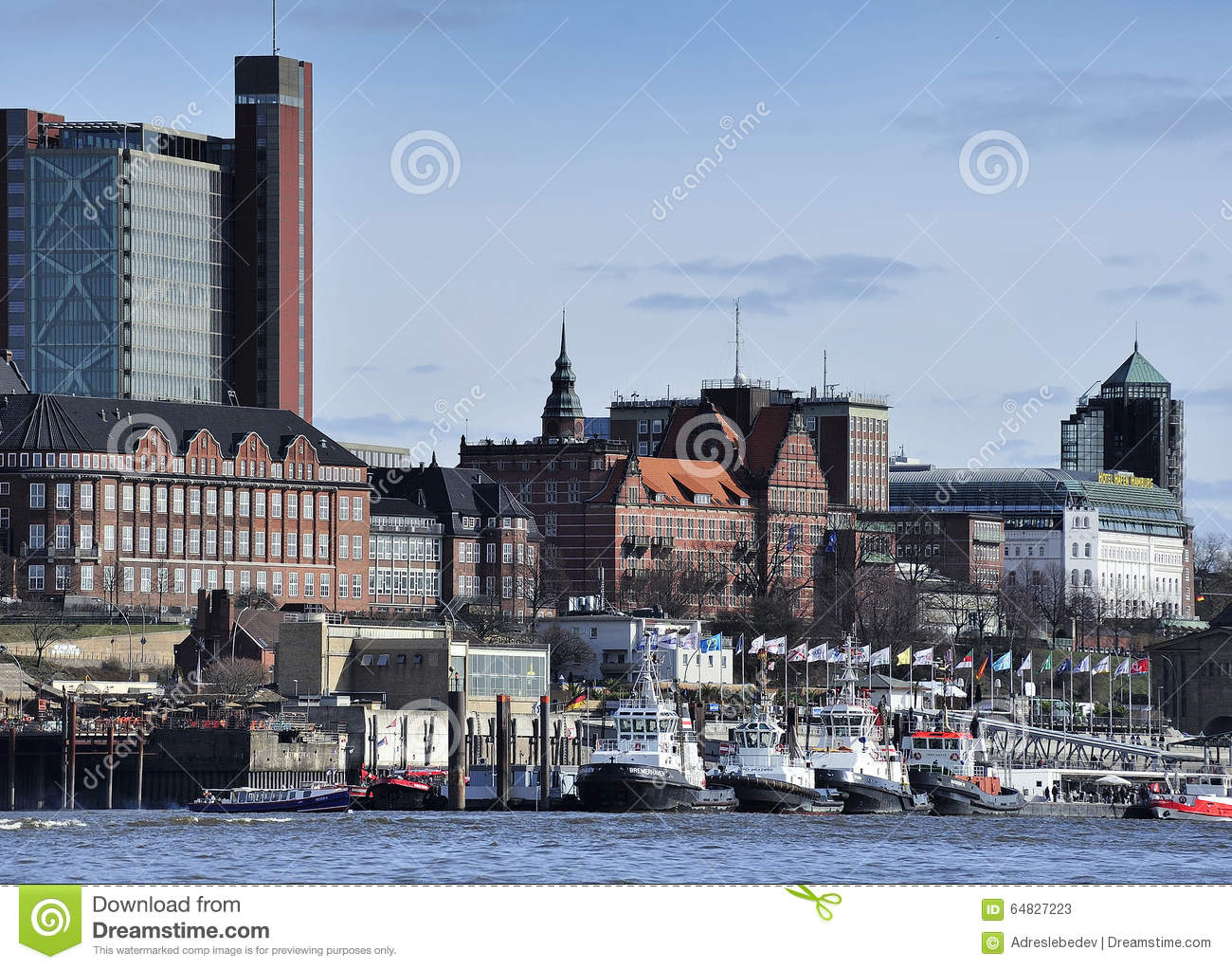 Stock photo hamburg germany riverside new - Architecture Elbe Germany Hamburg