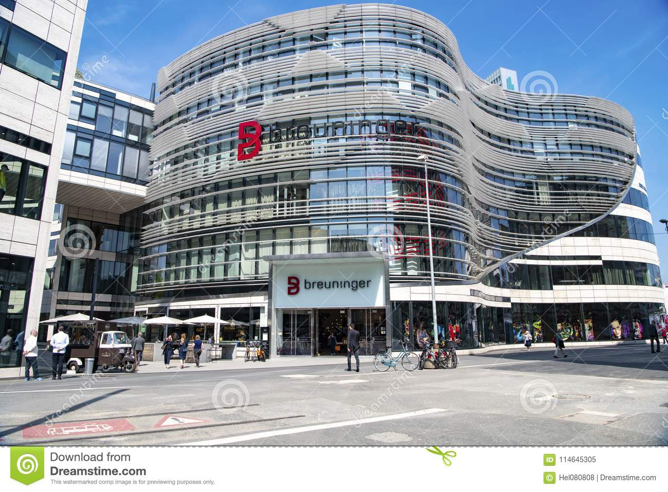 Download Shopping Mall In Modern Buildings Dusseldorf Editorial Image