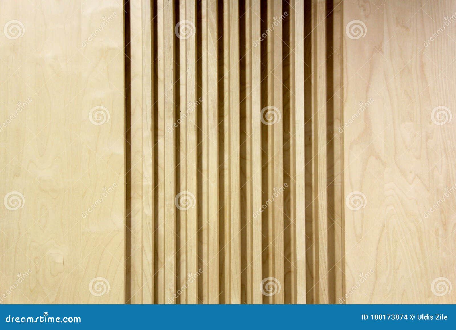 Modern Architecture Wood Tree Decorative Panels Stock Photo - Image ...