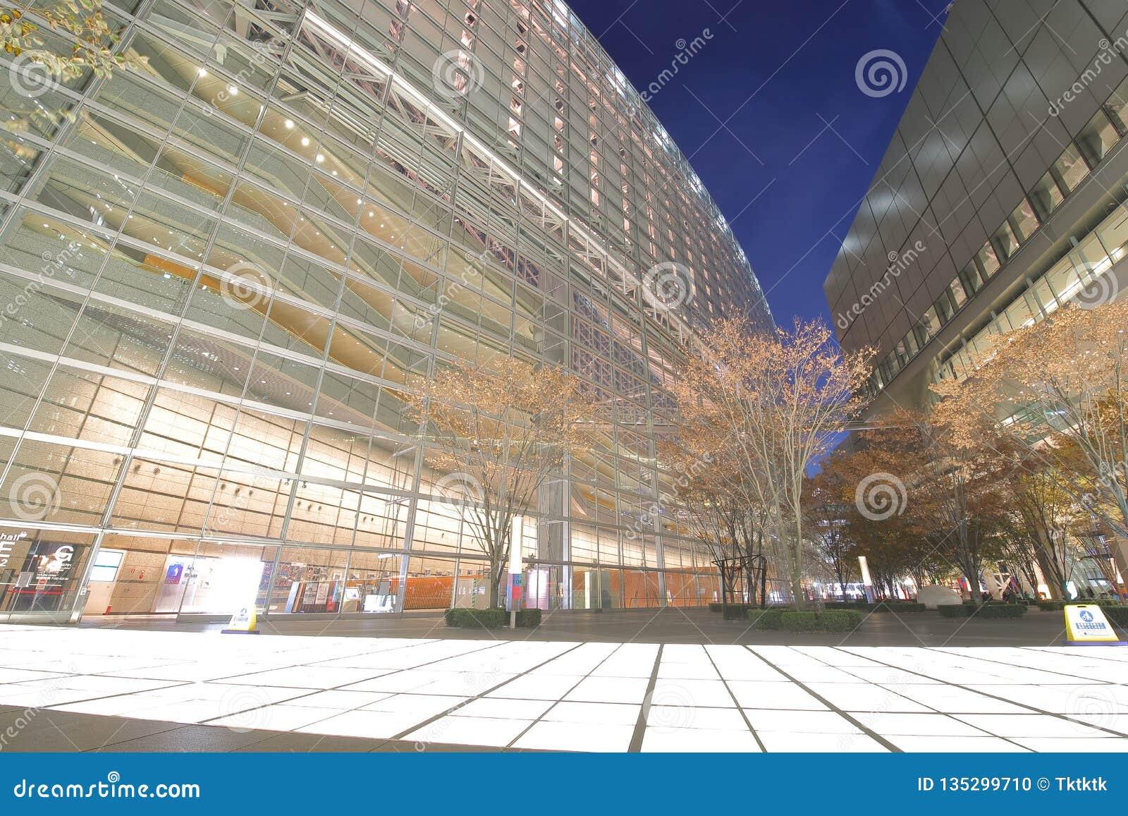 Modern arkitektur Tokyo för internationellt forum som bygger Japan