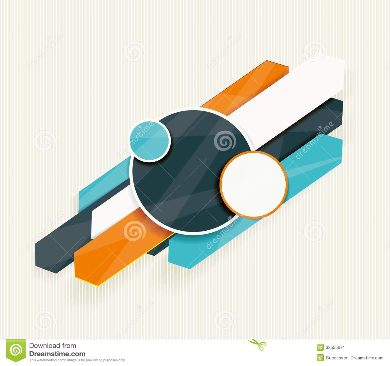 Modern Arrow And Circles Options Banner. Stock Image - Image: 32555671