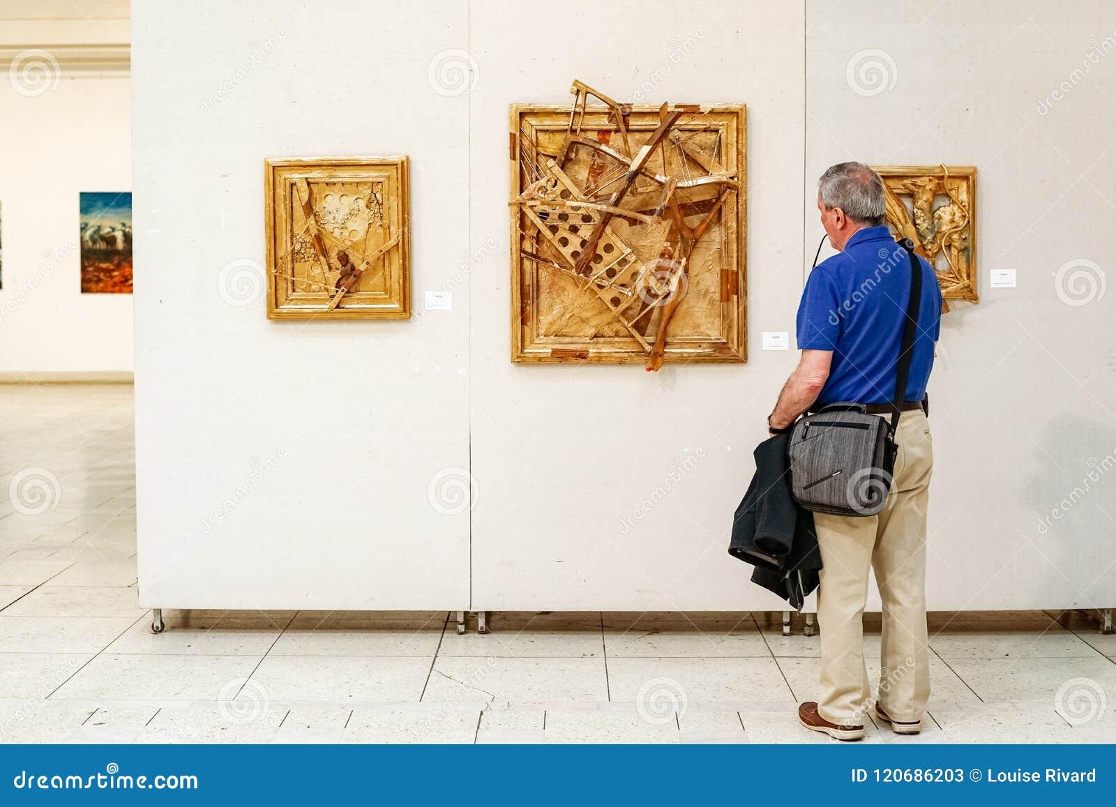 Modern art in Bucharest Ceausescu Palace