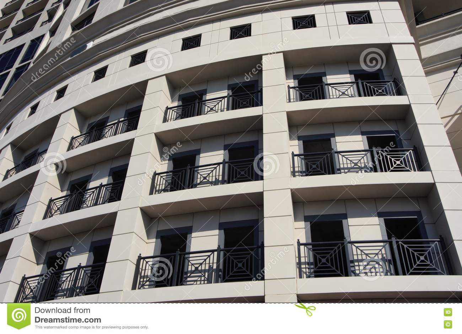 Modern Art Deco Office Building Stock Photo Image 4404940
