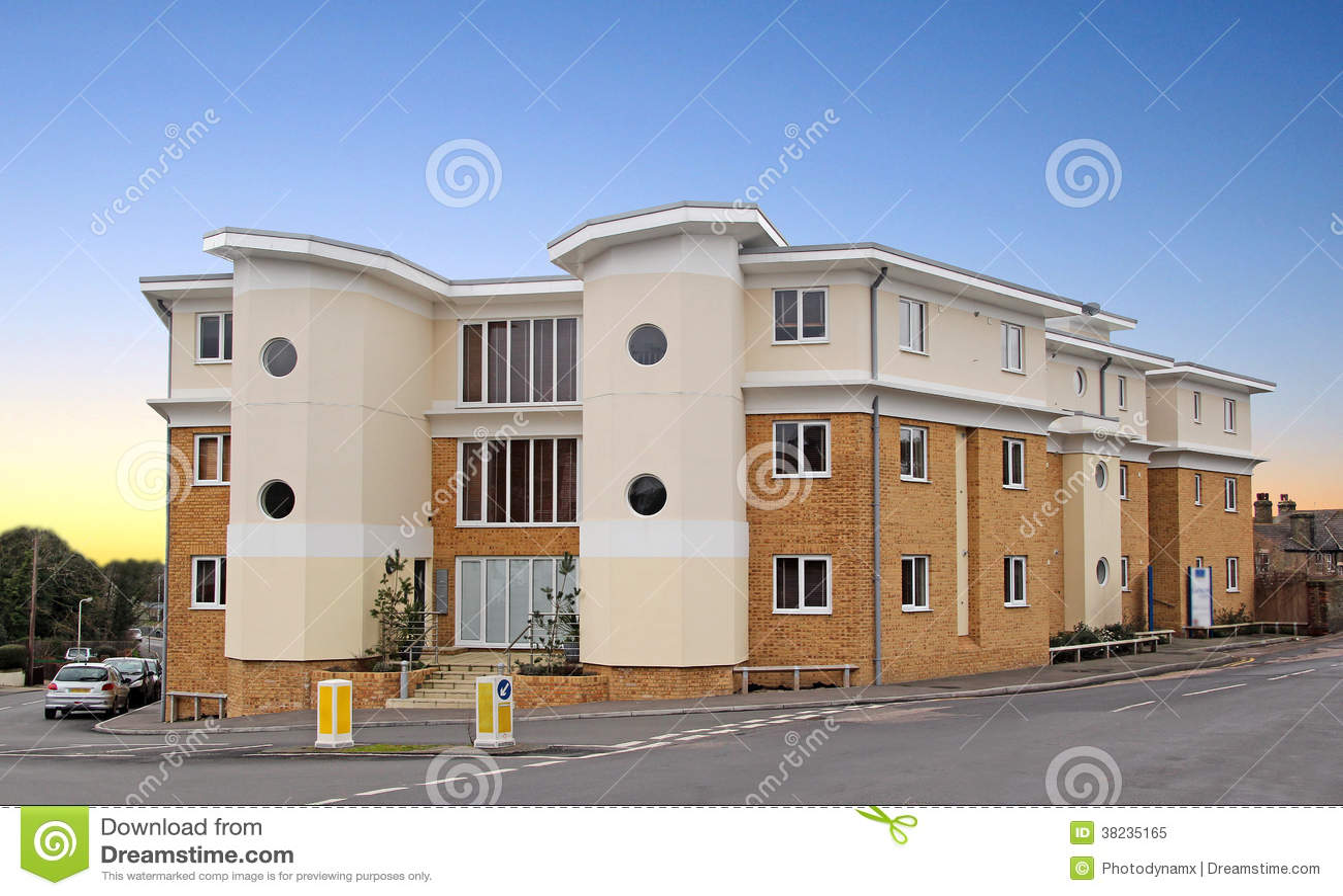 Modern Art Deco Style Apartments Royalty Free Stock Photo