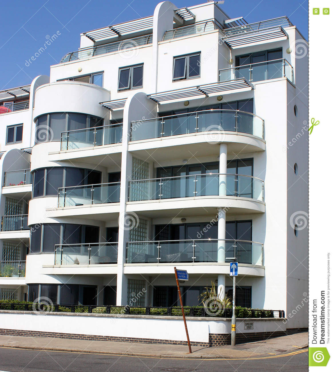 Art Deco Residential: Modern Art Deco Style Apartments Stock Image