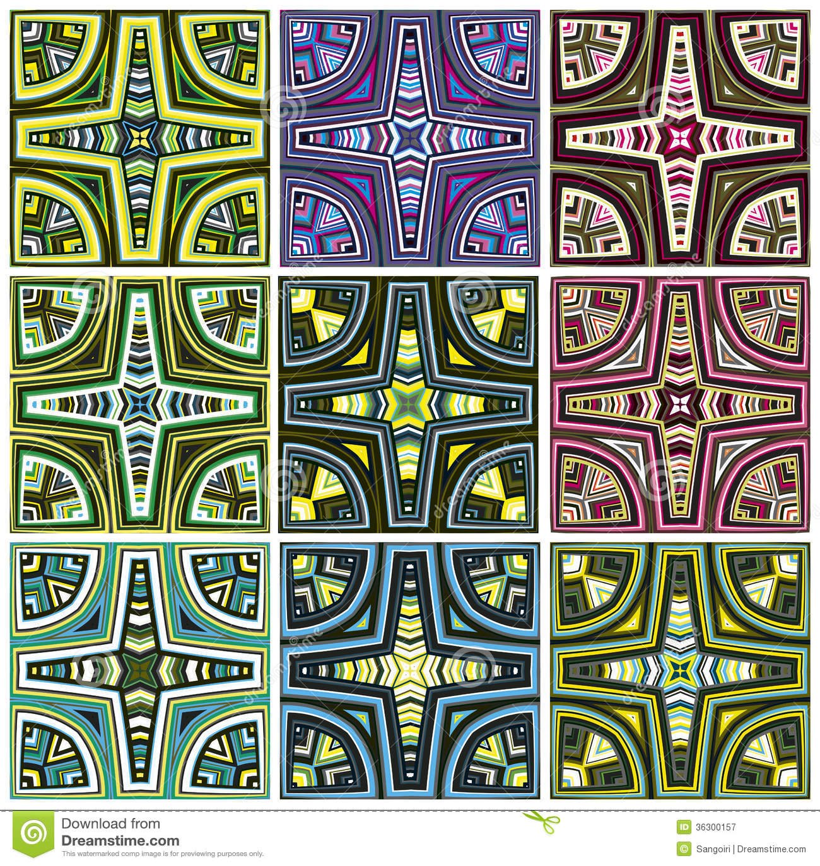 Modern Art Design From Kenya Stock Vector Illustration Of Africa