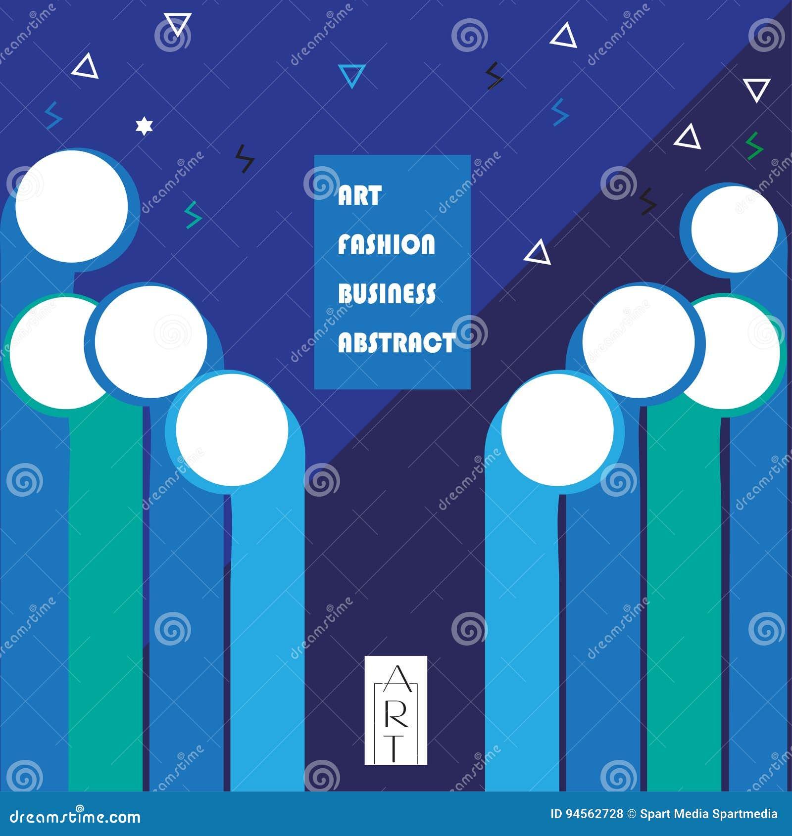 Modern Art Exhibition Poster Stock Vector Illustration Of Future