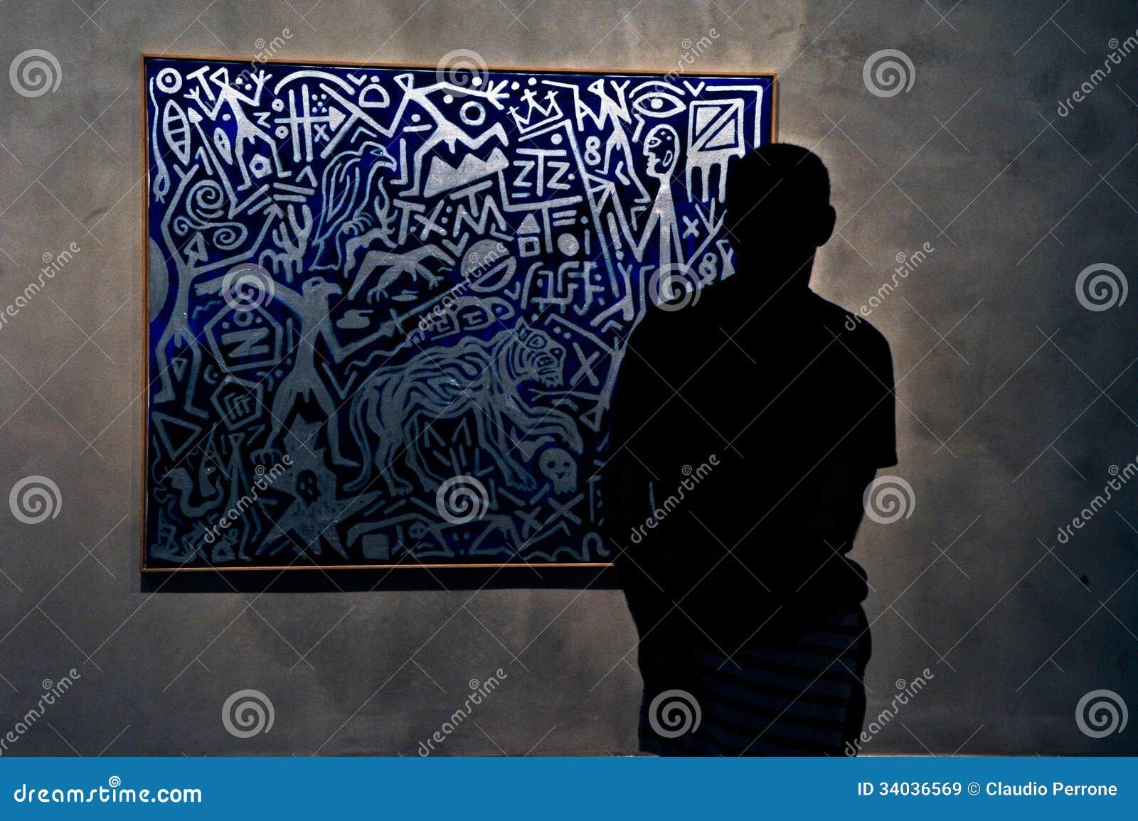 Modern Art exposicion editorial stock image  Image of irrationale