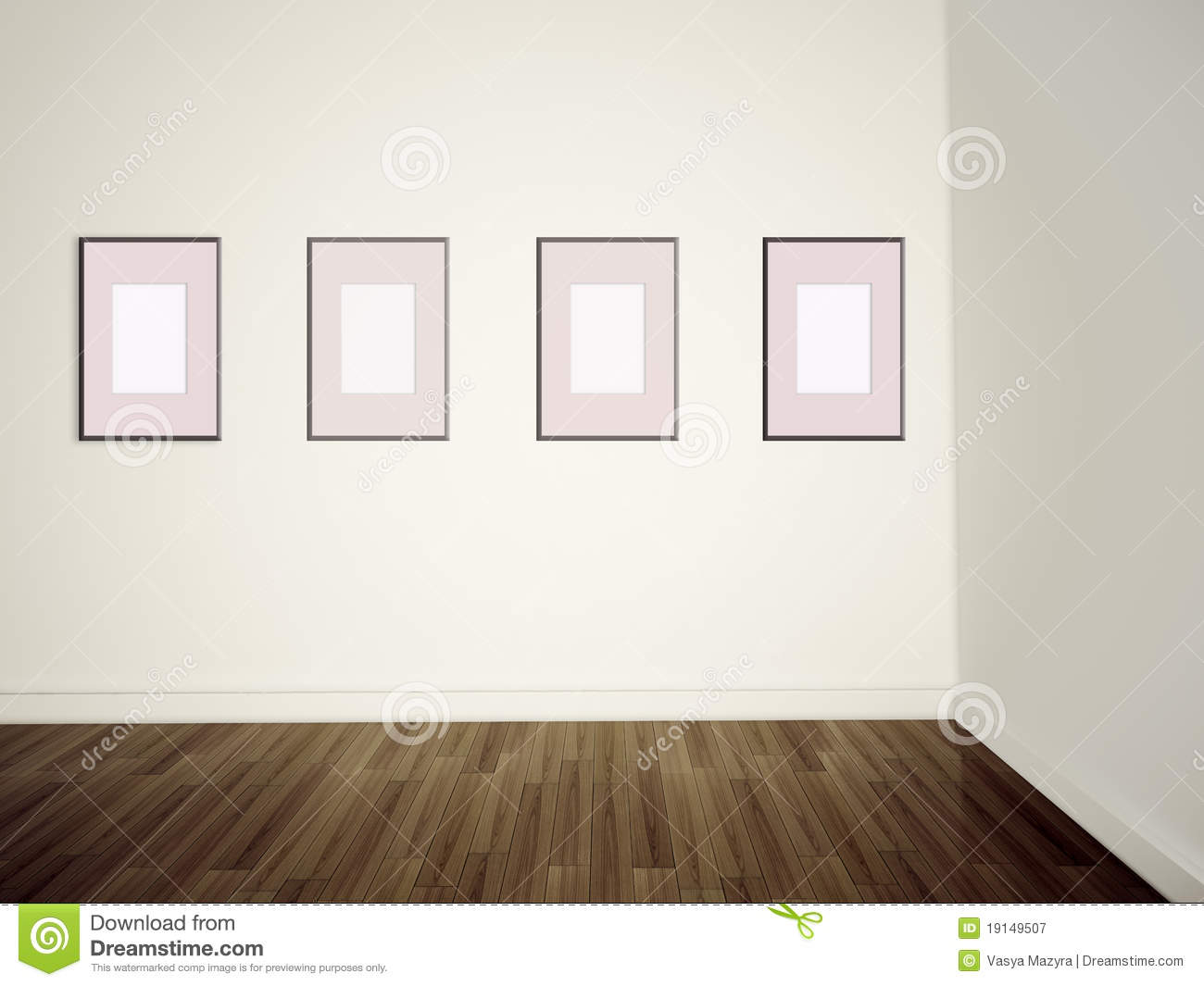 modern art gallery empty pictures on a wall royalty free
