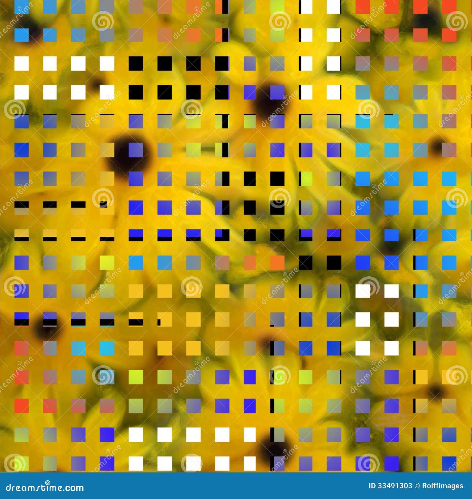Modern art inspired composition