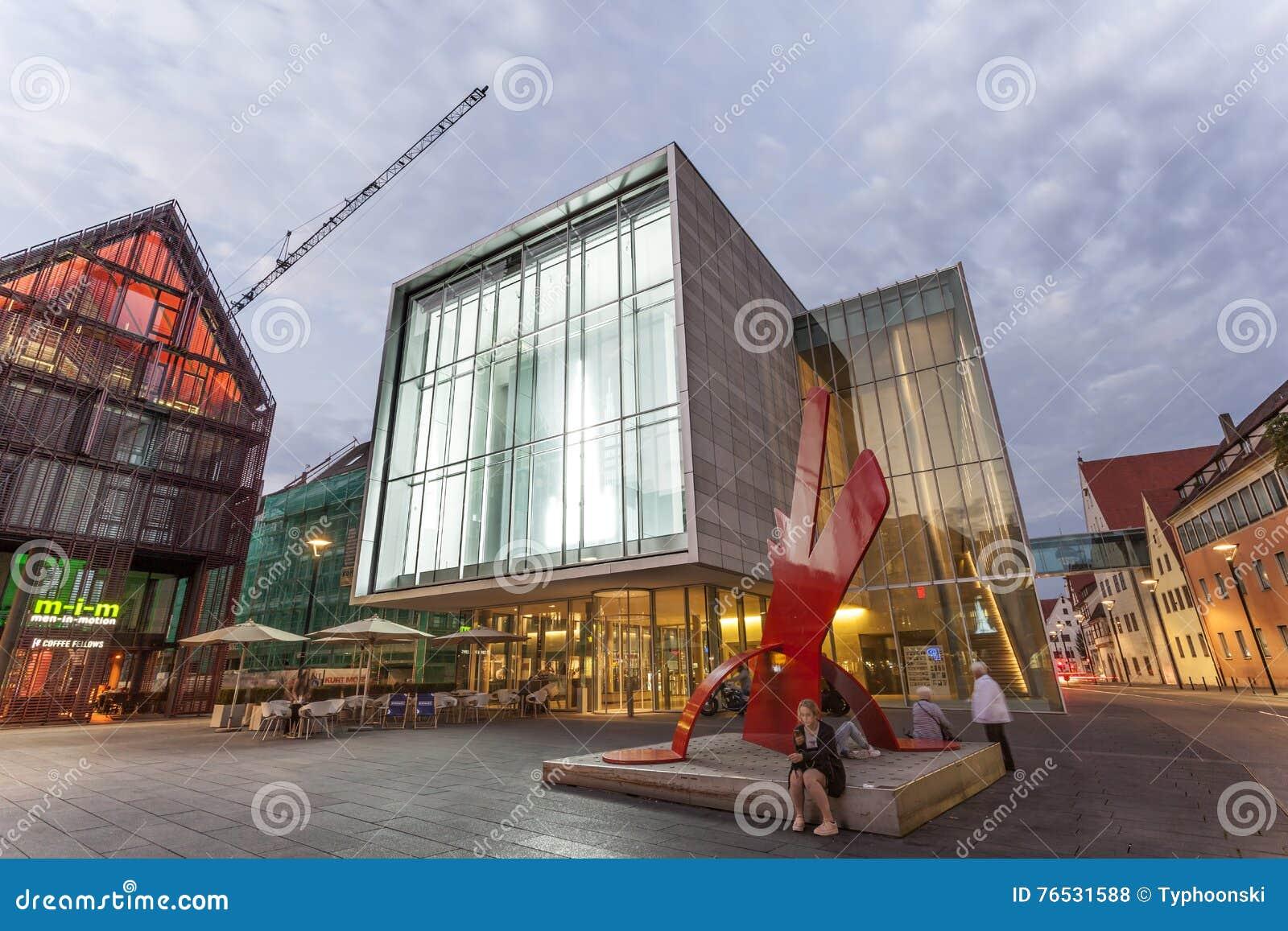 Modern Art Museum In Ulm, Germanyq Editorial Stock Photo - Image of
