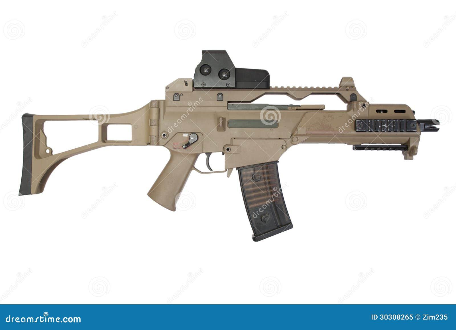 Modern Assault Rifle Royalty Free Stock Photo - Image: 30308265