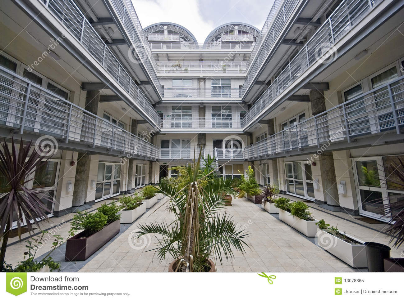 Modern atrium royalty free stock photo image 13078865 for Residential atrium