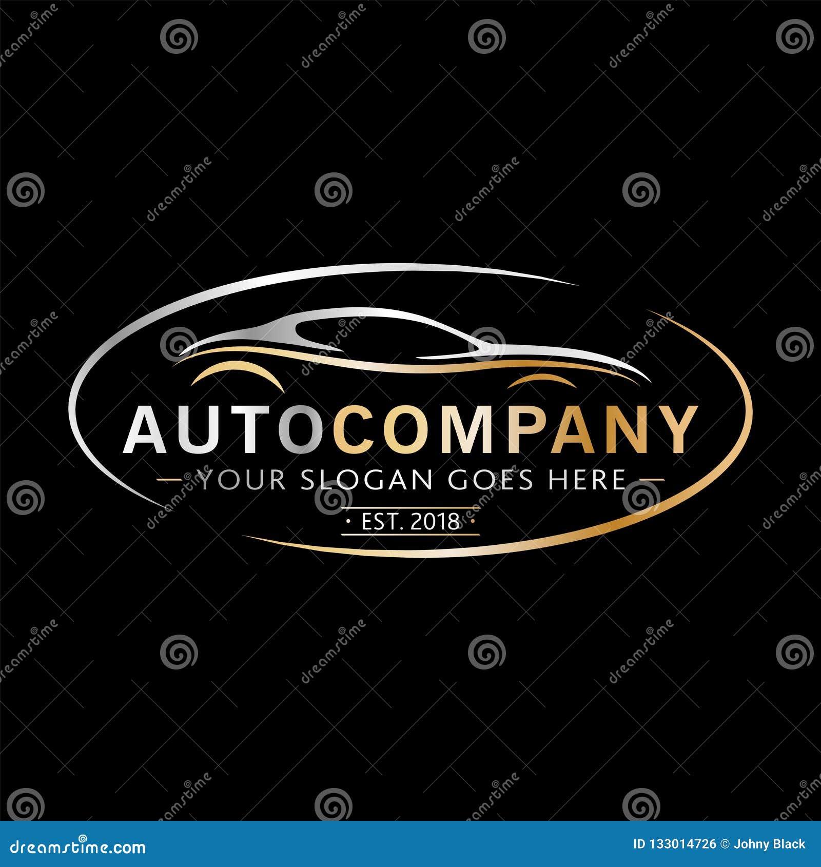 Modern Auto Company Logo Design Vector And Illustration Stock Vector Illustration Of Corporate Line 133014726