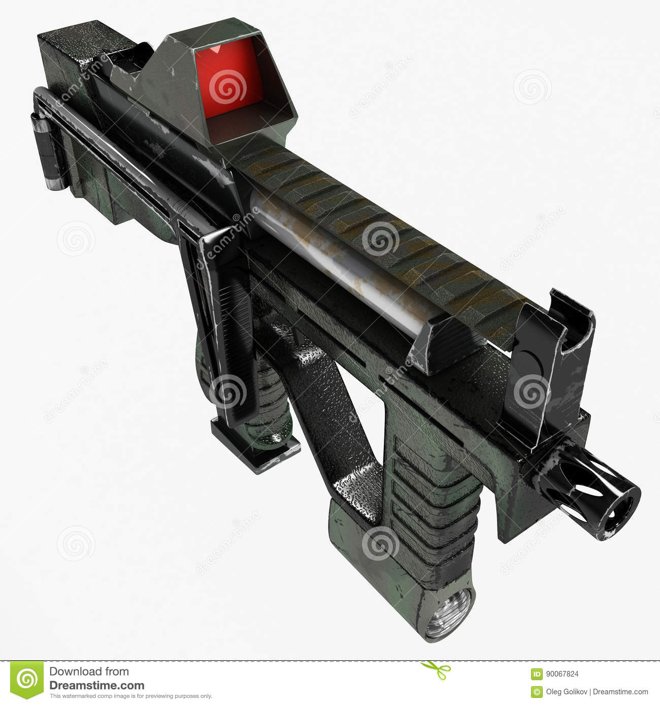 Modern Automatic Weapons Gun Of A New Model  Design Concept
