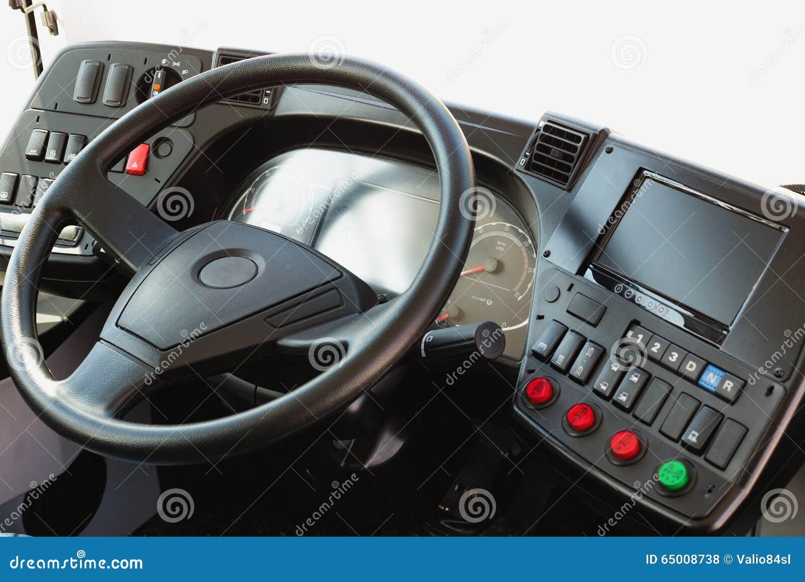 Modern Automobile Dashboard. Screen Multimedia System. Stock Photo ...