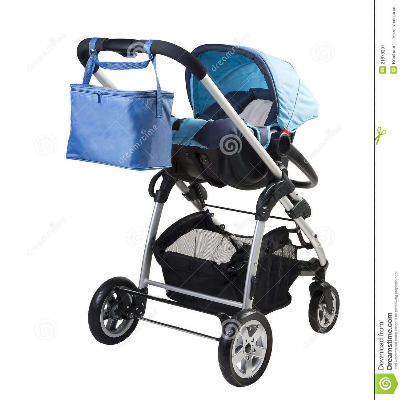 Download A modern baby-buggy stock image. Image of little, expecting - 21878297