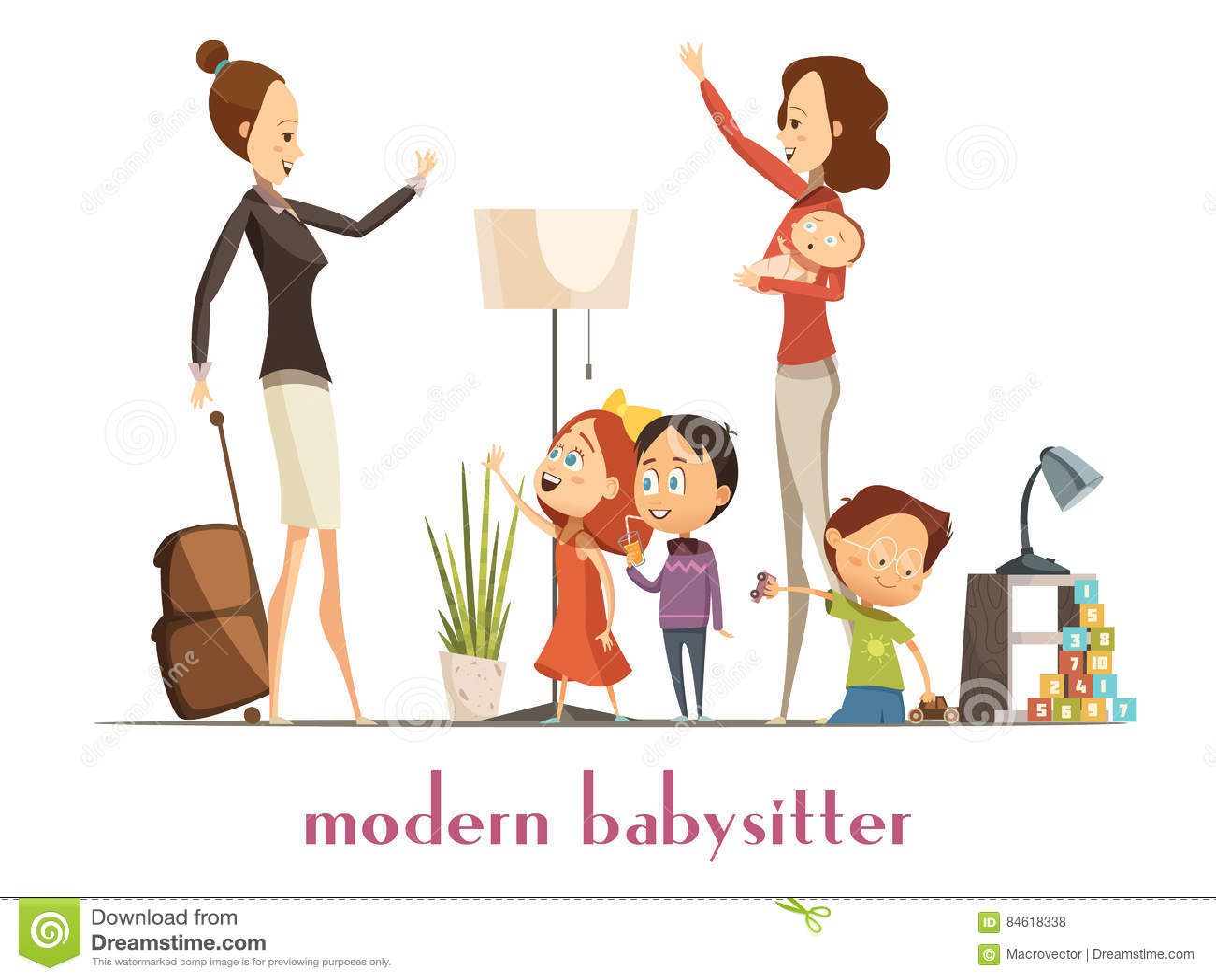 babysitter stock illustrations 934 babysitter stock illustrations rh dreamstime com baby sitting clipart babysitter clipart