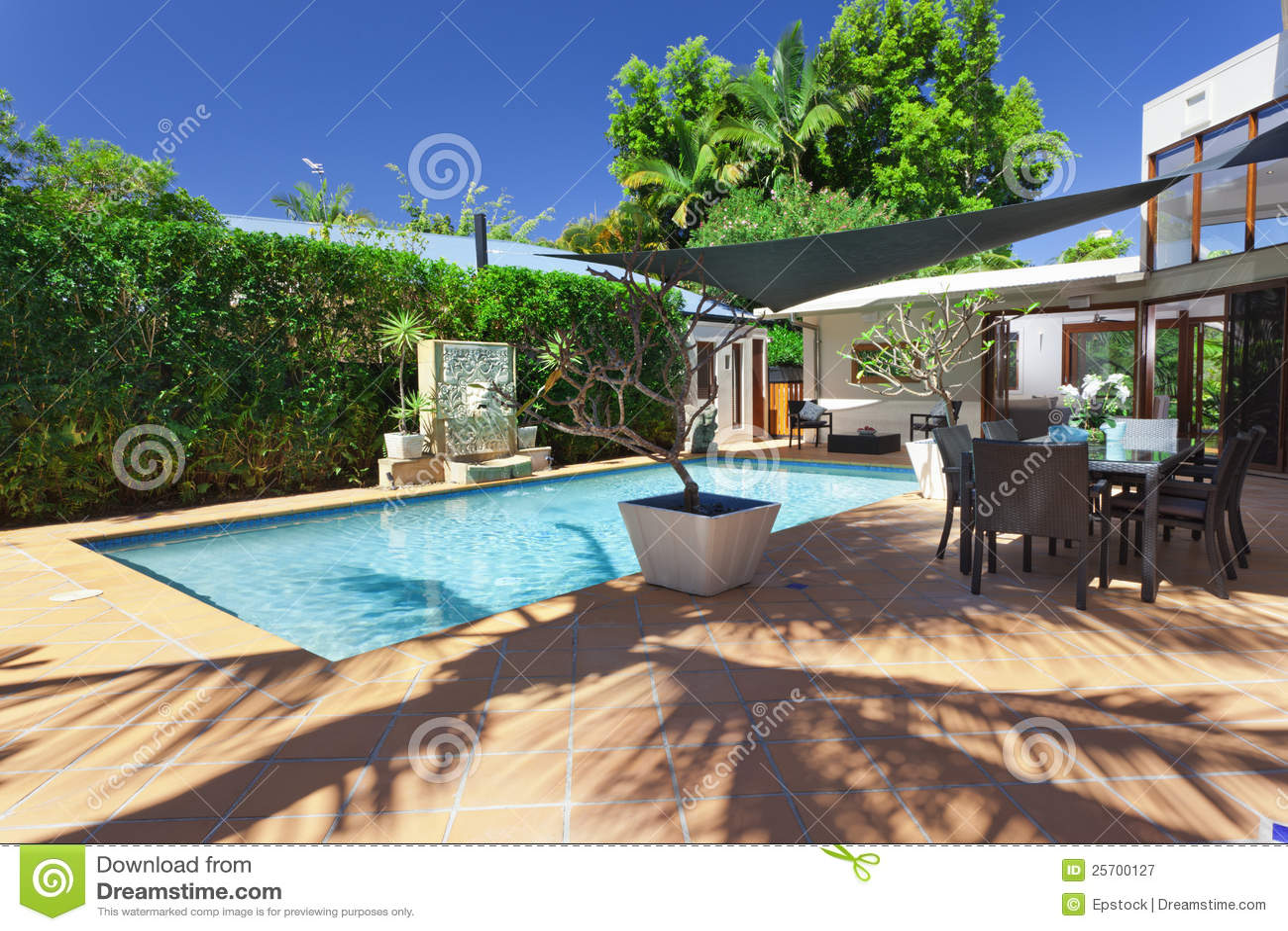 Modern Backyard Pool Ideas : Cabana Plans Pool Designs Modern Backyard Modern Secondsunco