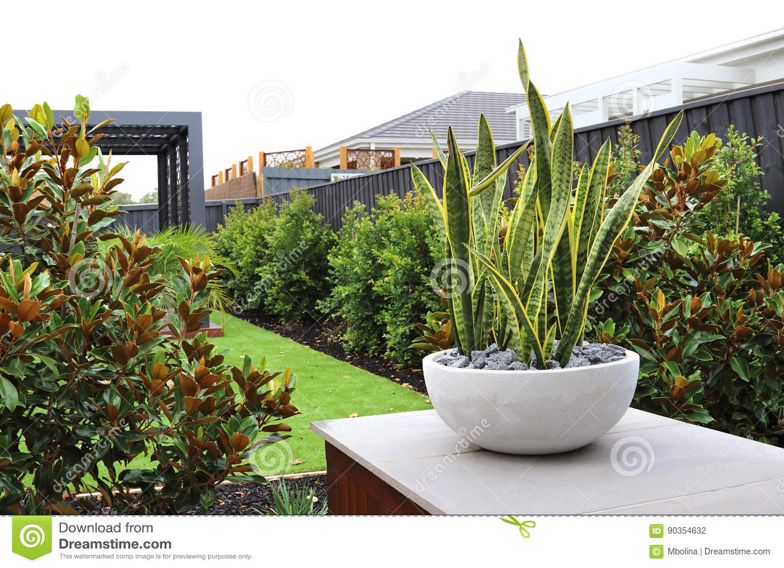 Modern Backyard Design Ideas Stock Photo Image Of Gardening