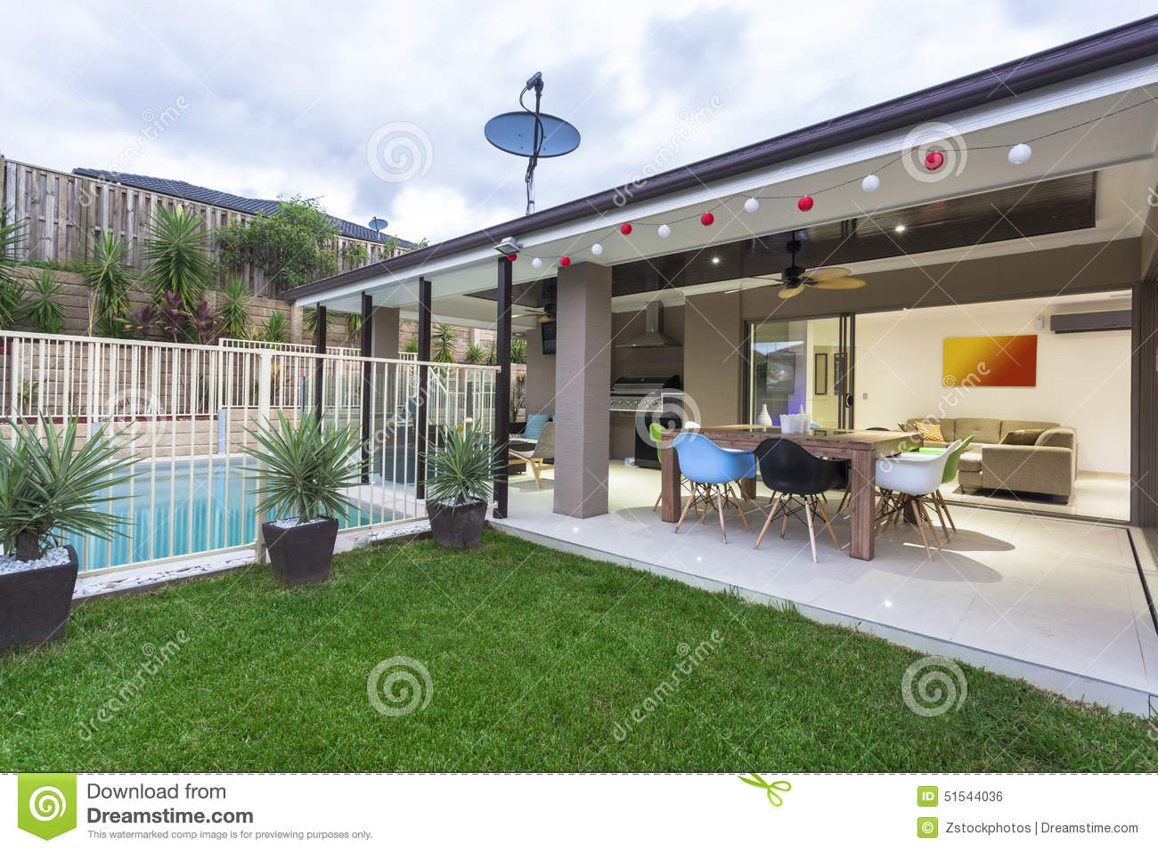 Modern Backyard Stock Photo Image Of Balcony Outdoor