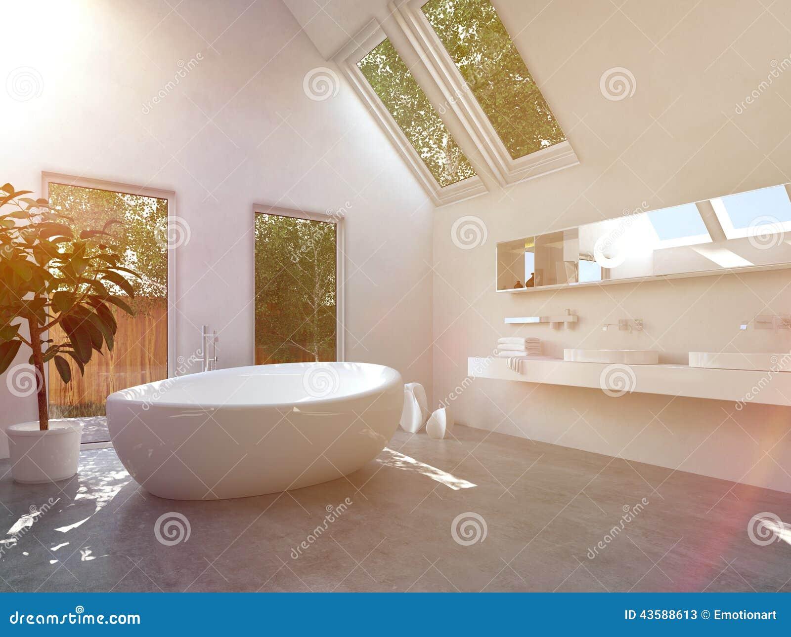 Fristående modernt grönt badkar stock illustrationer   bild: 60811714