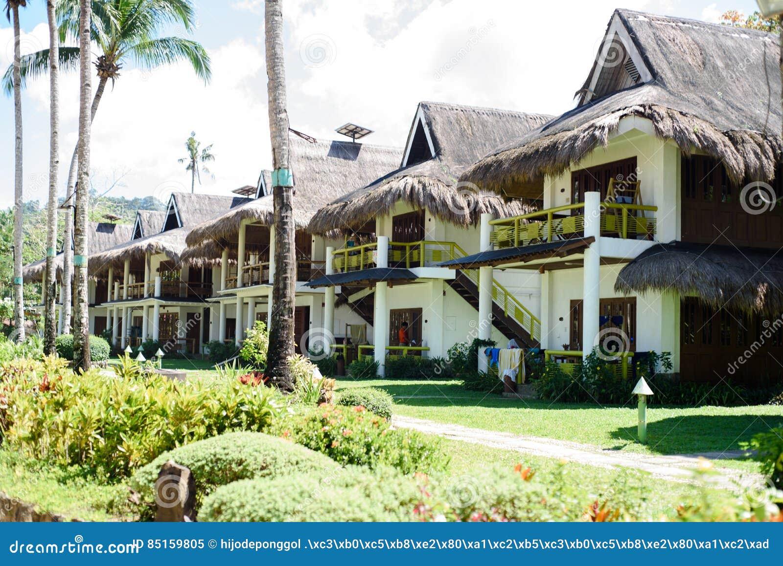 Modern Bahay Kubo As Beach House Stock Image Image Of