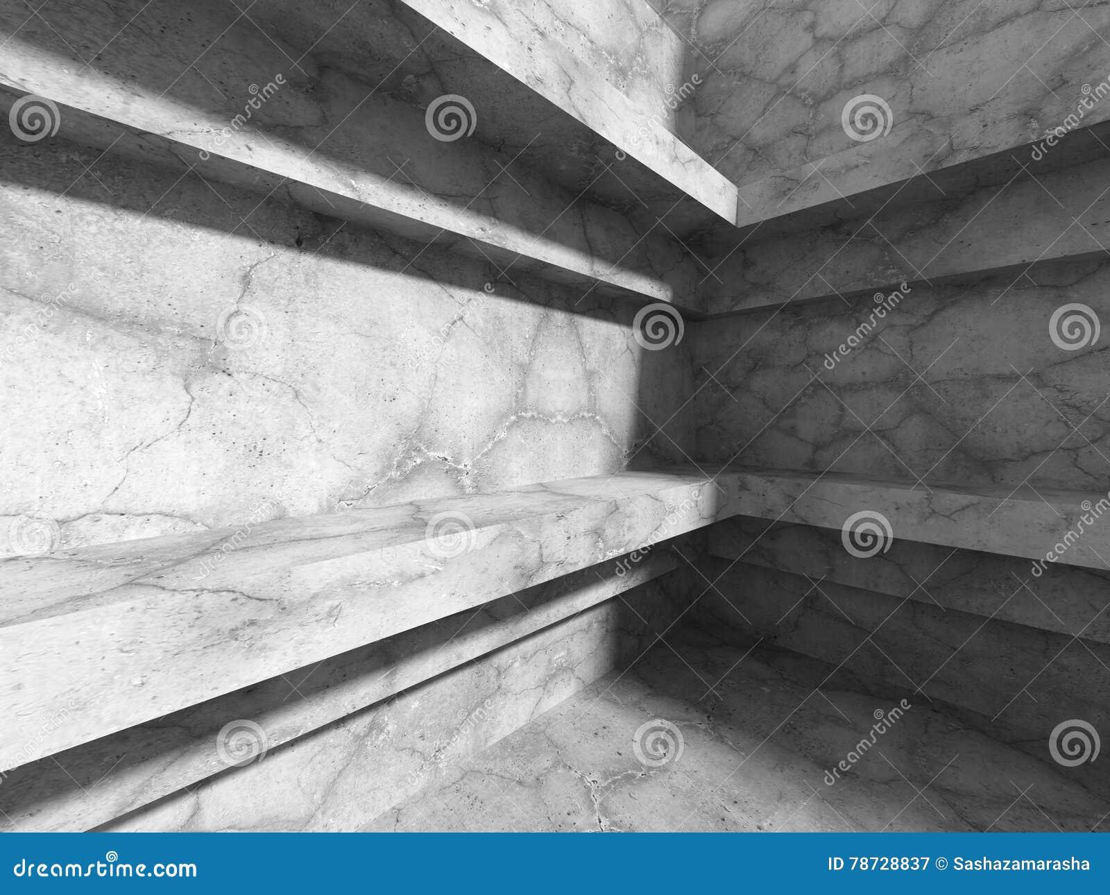 Modern bakgrund för betongväggarkitektur Abstrakt stads- Co
