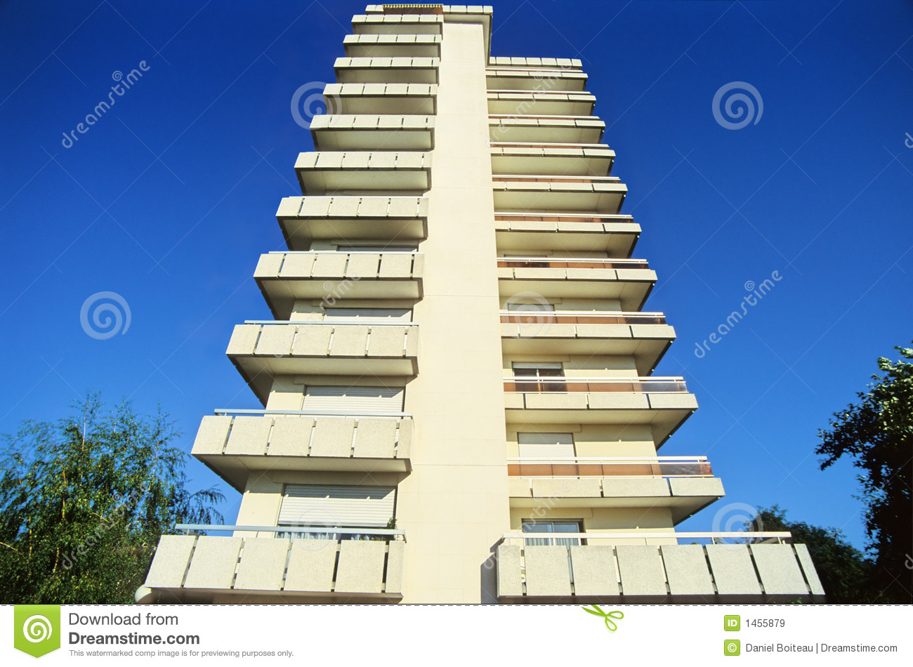 Modern balcony stock image image of construction clean for Balcony modern