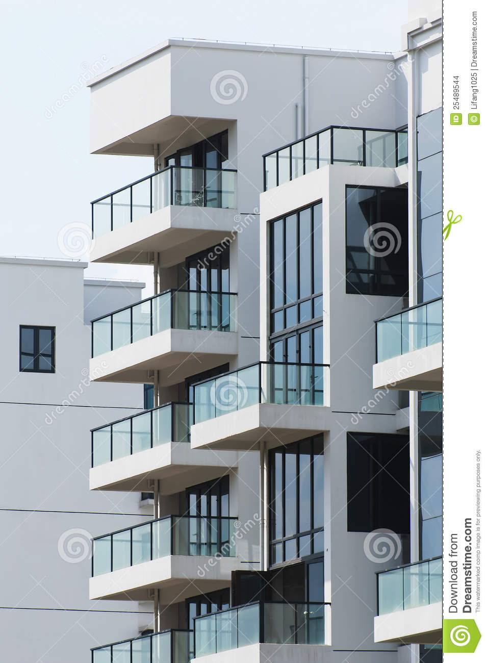 Modern balcony stock photo image of design elegant for Balcony modern