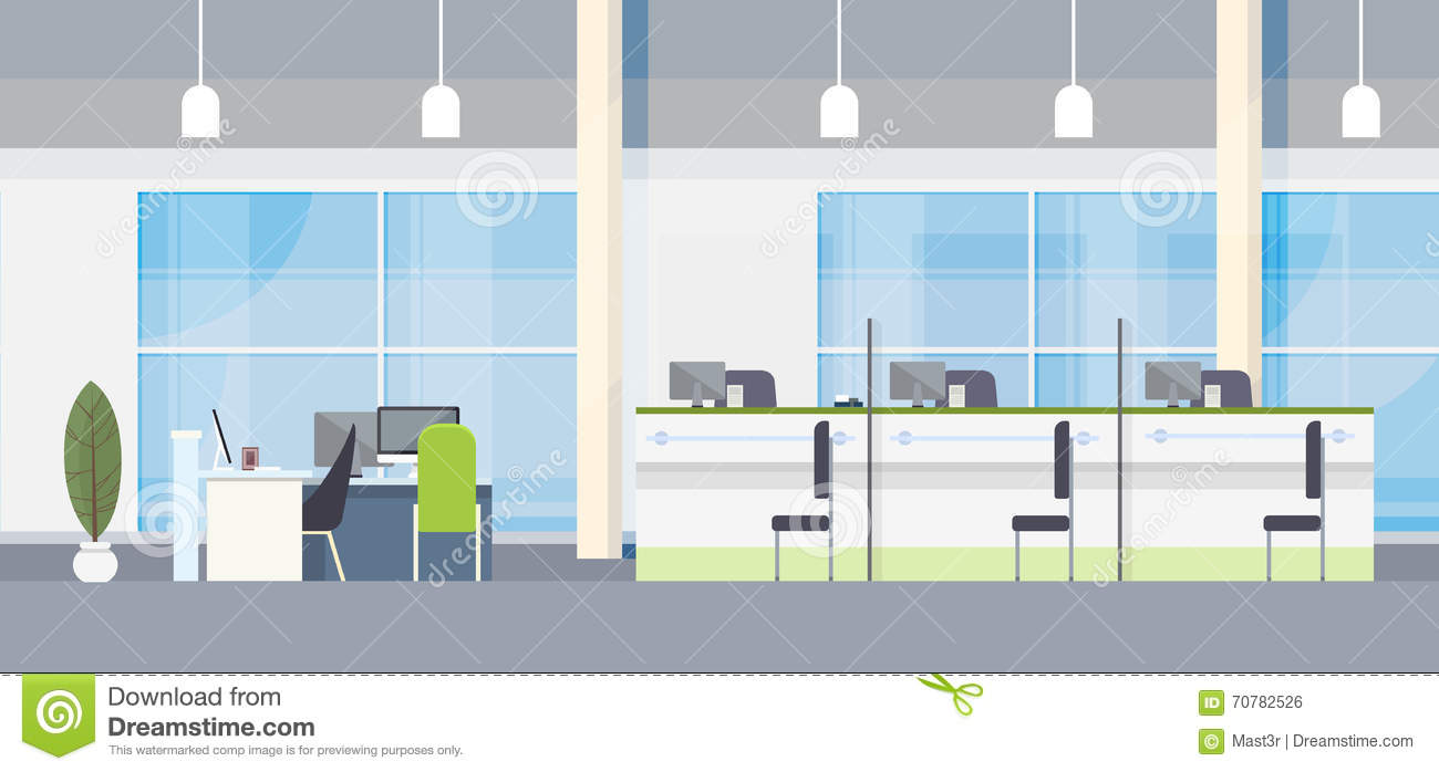 Bank and office interior cartoon vector cartoondealer for Office design vector
