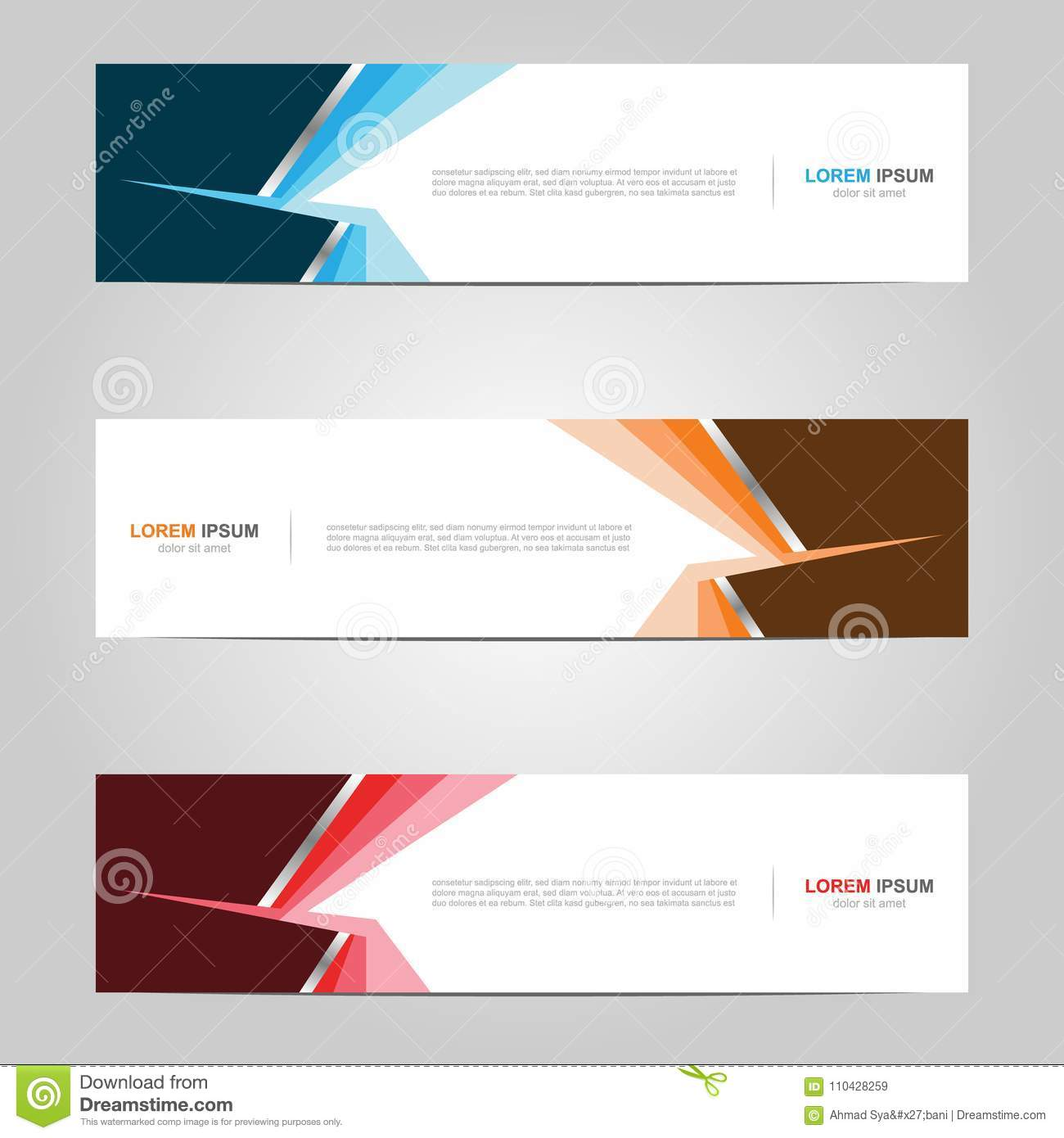 Modern Banner Template Design Creative With Abstract
