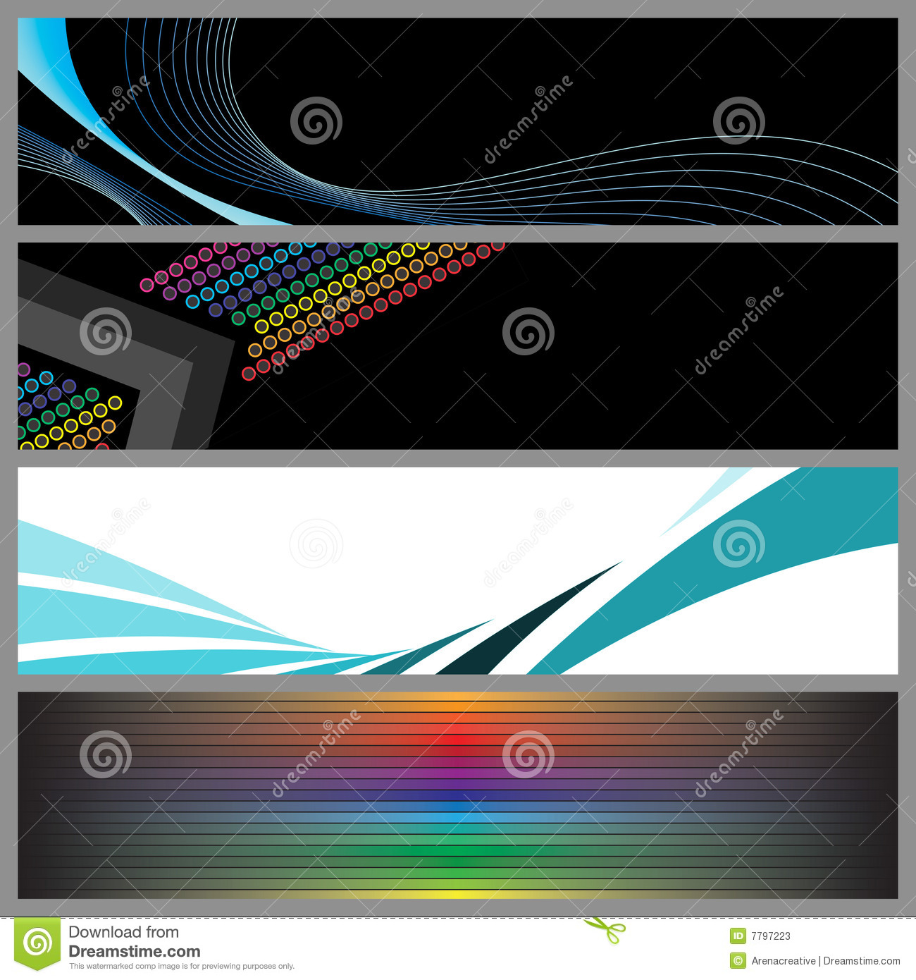 Modern Banner Templates Stock Photography - Image: 7684622