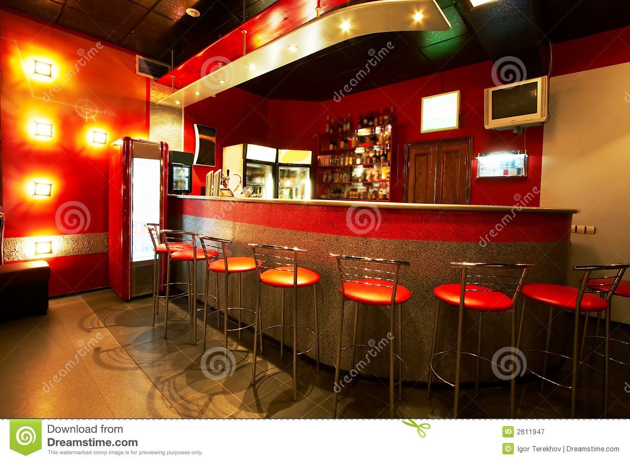 Modern bar stock image image of night dinner beautiful for Bar moderne