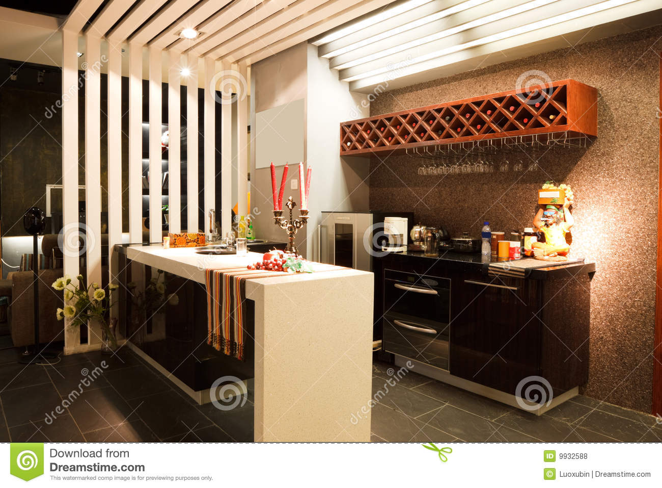 Modern Bar Or Restaurant Interior Stock Photo Image Of Wooden Wood 9932588