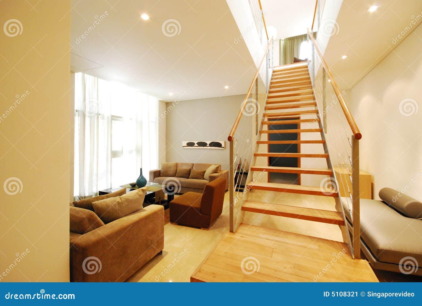Modern Basement living room in the city