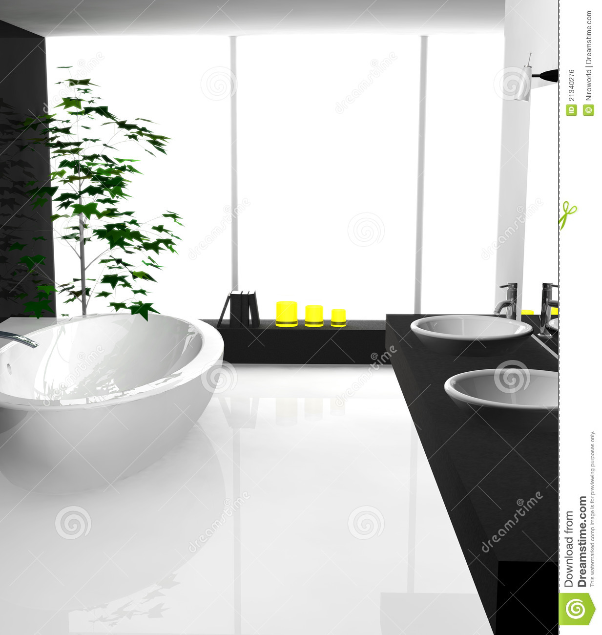 Modern Bathroom stock illustration. Illustration of designer - 21340276