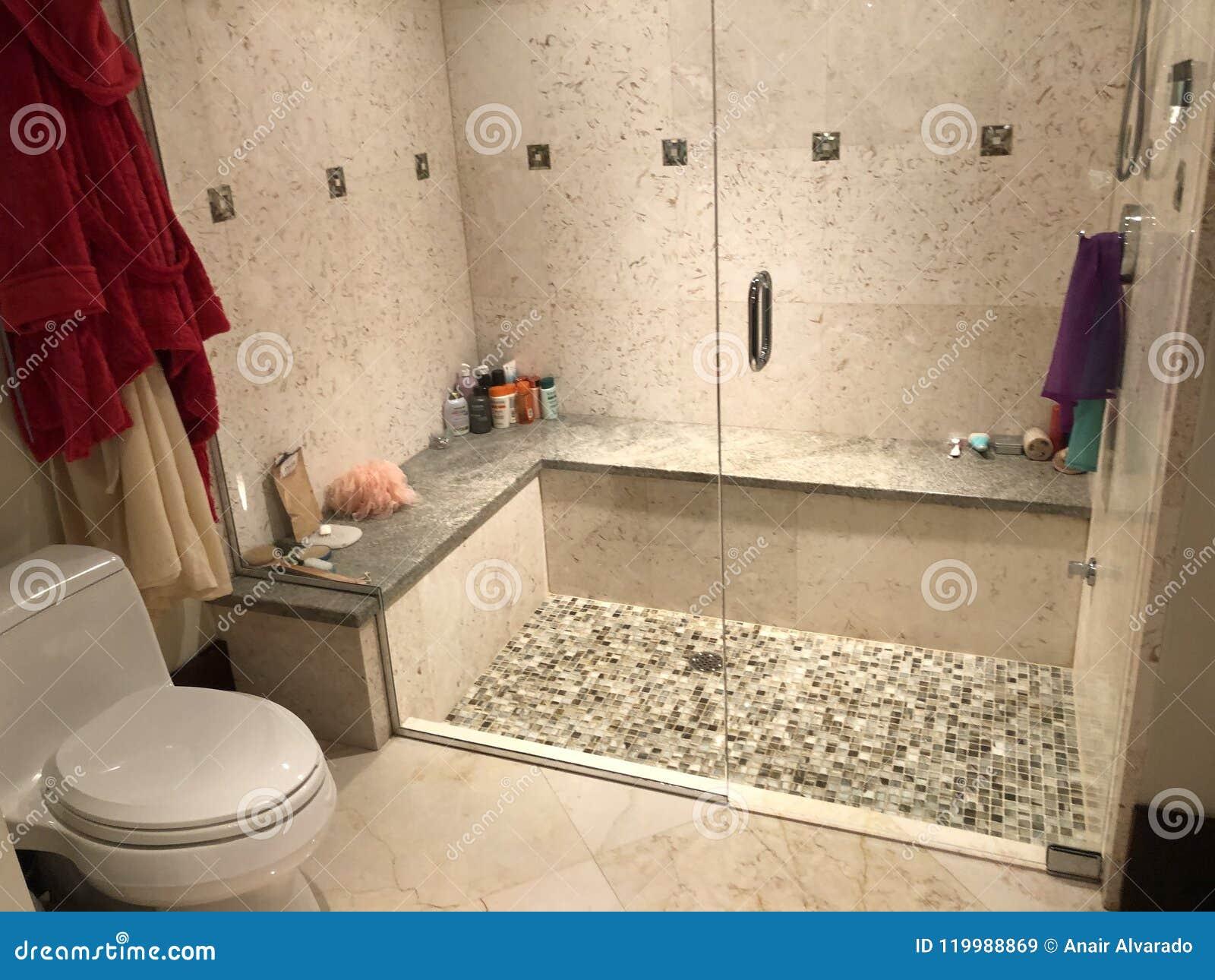 Modern Bathroom Stock Image Image Of Bathroom Toilet 119988869 - Modern-bathroom-toilet