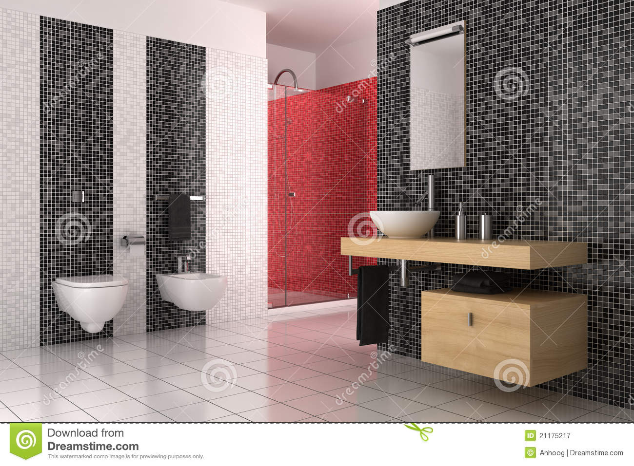 Black and white and red bathroom ideas - Design Ideas For Small Bathroom Simple Red And Black